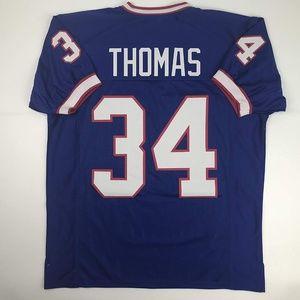Thurman Thomas Buffalo Blue Football Jersey